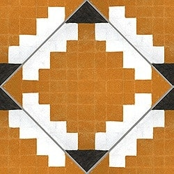 Casart coverings Orange & White Diamonds-in-the-ruff-wallcovering_MoRockAnSoulCollection_2