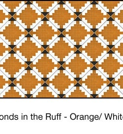 Casart coverings Orange & White Diamonds-in-the-ruff-wallcovering_MoRockAnSoulCollection_2x