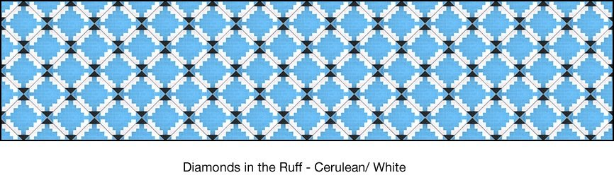 Casart coverings Cerulean & White Diamonds-in-the-ruff-wallcovering_MoRockAnSoul Collection_3x