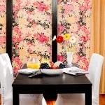 Casart coverings Flower Power_Botanicals_ Renters Breakfast Room View