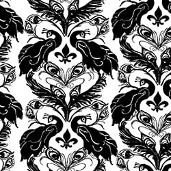 Casart coverings White/Anise French Peacock Damask_Patterns_1
