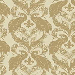 Casart coverings Down/Ginger French Peacock Damask_Patterns_11