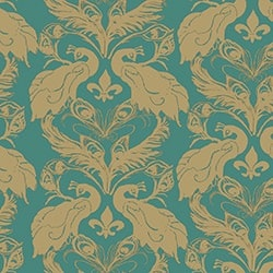 Plume/Ginger French Peacock Damask_Patterns_12