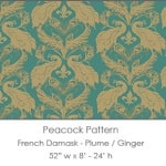 Casart overings Plume/Ginger French Peacock Damask_Patterns_12x