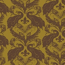 Casart coverings Curry/Nutmeg French Peacock Damask_Patterns_14