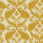 Casart coverings Down/Tumeric French Peacock Damask_Patterns_16