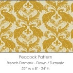 Casart coverings Down/Tumeric French Peacock Damask_Patterns_16x