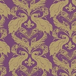 Casart coverings Magenta/Ginger French Peacock Damask_Patterns_20