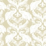 Casart coverings Down/White French Peacock Damask_Patterns_3