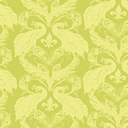 Casart coverings Chartreuse/Citron French Peacock Damask_Patterns_6