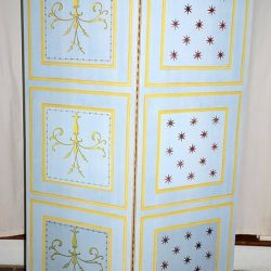 Casart coverings Faux Panel Screen with Inserts