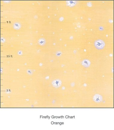 Casart Coverings Orange Fireflies Growth Chart detail – Tots Tweens & Teens (T3)