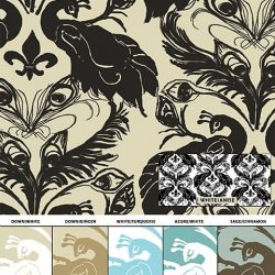 Casart coverings French Peacock Damask_sample1_Patterns