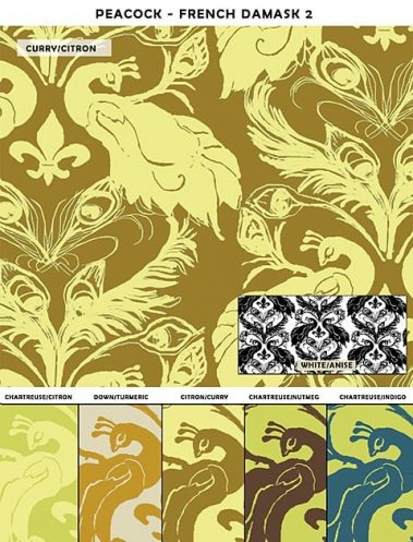 Casart coverings French Peacock Damask_sample2_Patterns