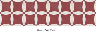 Casart coverings Red & White Hahah_backsplash_MoRockAnSoulCollection_3x