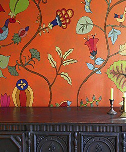 Casart coverings Kristin Nicholas Butternut Garden Mural Room View 1