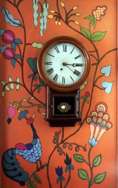 Casart Kristin Nicholas Pumkin Sunset Garden Mural Room View 2x