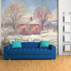 Casart Coverings Katherine Collection Winter House Room removable mural wallpaper