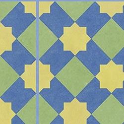 Casart coverings Blue & Yellow & Green Khatakriss_wallcovering_MoRockAnSoul_1