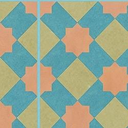 Casart coverings Teal & Orange & Tan Khatakriss_wallcovering_MoRockAnSoul_2