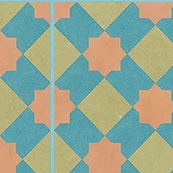 Casart coverings Teal & Orange & Tan Khatakriss_wallcovering_MoRockAnSoul_2