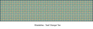 Casart Teal & Orange & Tan Khatakriss_wallcovering_MoRockAnSoul_2x