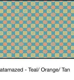 Casart coverings Teal & Orange & Tan Khatamazed_wallcovering_MoRockAnSoul_2x