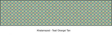 Casart coverings Teal & Orange & Tan Khatamazed_wallcovering_MoRockAnSoul_2x