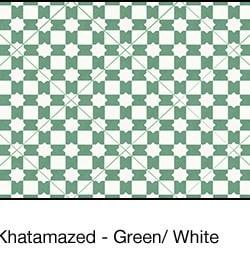 Casart coverings Green & White Khatamazed_wallcovering_MoRockAnSoul_4x