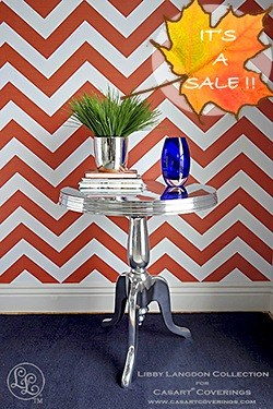 Libby Langdon Chic Chevron sale on Casart coverings