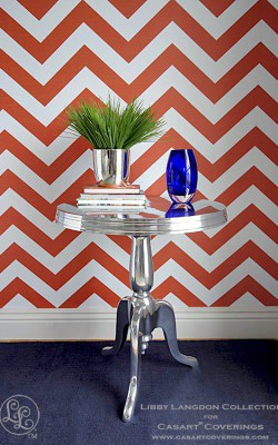 Casart coverings Chic Chevron - Libby Langdon Room View