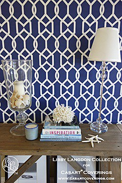 Libby Langdgon for Casart coverings_Groovy Gate Midnight Navy_Room View5