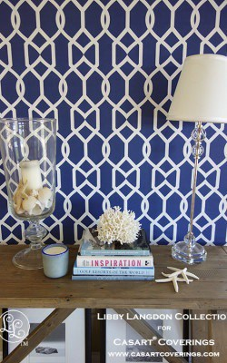Libby Langdgon for Casart coverings_Groovy Gate Midnight Navy_Room View5x_removable wallpaper