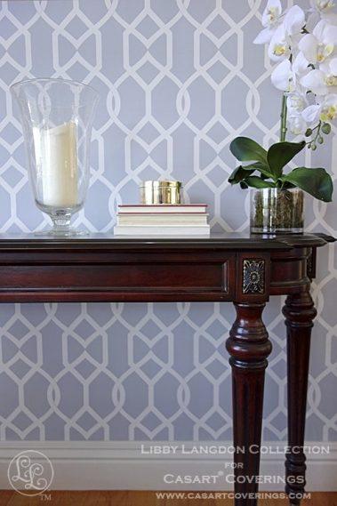 Casart coverings Groovy Gate Libby Langdon Room 2x in Steel Gray