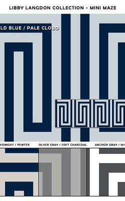 Casart coverings Libby Langdon Collection Mini Maze Sample