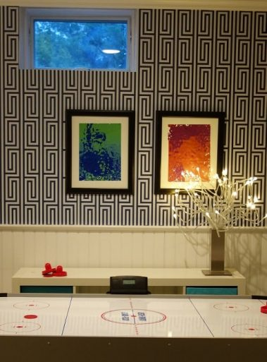 Casart coverings Mini-Maze marvelous_Libby Langdon client room view