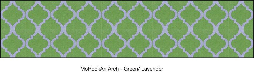 Casart coverings Green & Lavender MoRockAnArch_wallcovering_1x