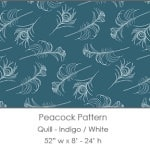 Casart coverings Indigo/White Quill_Patterns_10x