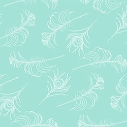 Casart coverings Turquoise/White Quill_Patterns_11