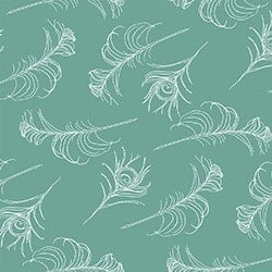 Casart coverings Teal/White Quill_Patterns_12