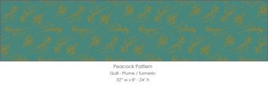 Casart coverings Plume/Turmeric Quill_Patterns_13x