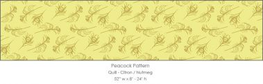 Casart coverings Citron/Nutmeg Quill_Patterns_14x