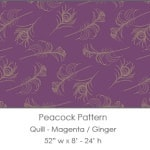 Casart coverings Magenta/Ginger Quill_Patterns_15x
