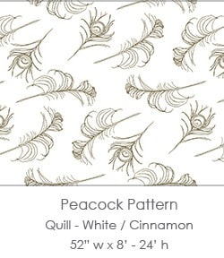 Casart coverings White/Cinnamon Quill_Patterns_1x