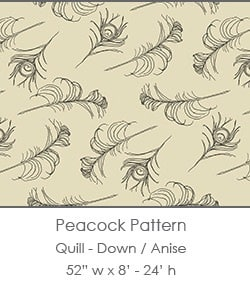 Casart coverings Down/Anise Quill_Patterns_2x