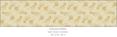 Casart coverings Down/Turmeric Quill_Patterns_3x