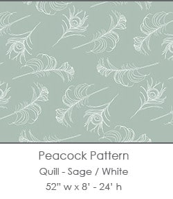 Casart coverings Sage/White Quill_Patterns_4x