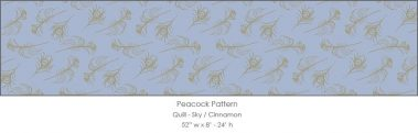 Casart coverings Sky/Cinnamon Quill_Patterns_6x