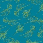 Casart coverings Peacock Blue/Citron Quill_Patterns_8