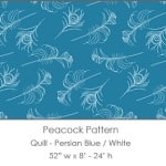 Casart coverings Persian Blue/White Quill_Patterns_9x